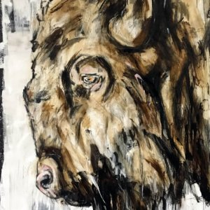 Ralf Koenemann painting bison 2
