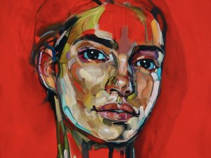 Anna Bocek painting Sketch